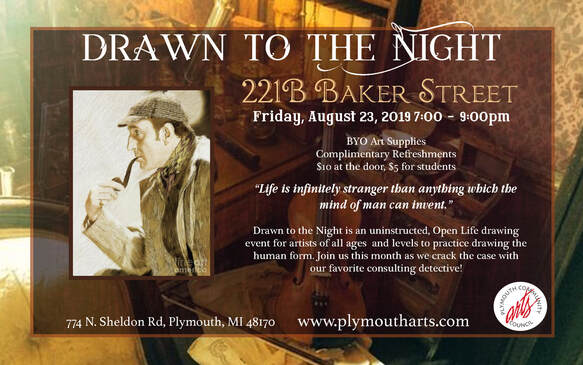 Drawn To The Night - Artists' Drawing Event - Plymouth